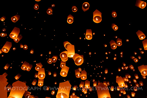 Yee Peng Sky Lanterns take to the air