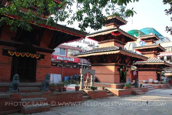 Tri Devi temples in Tri Devi Marg, Thamel, Kathmandu