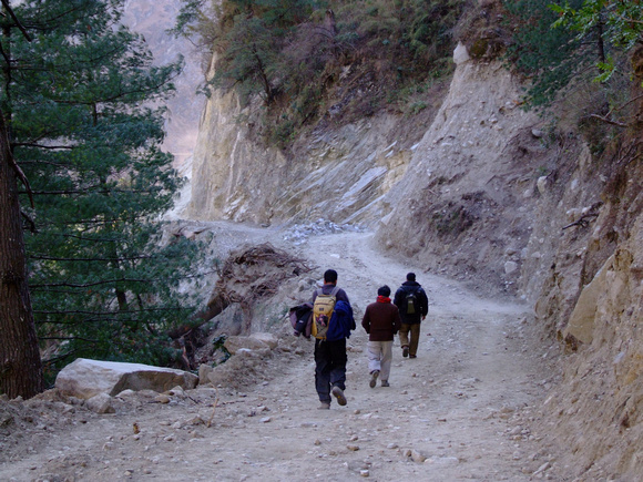 Descending the Annapurna Circuit