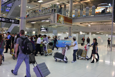Entering Arrivals at Suvarnabhumi Airport