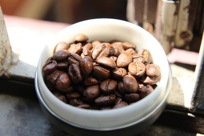 Nepali coffee beans in the sun