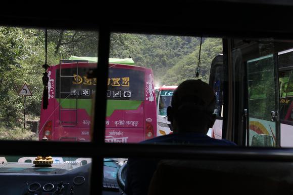 Bus traffic from Kathmandu to Pokahra