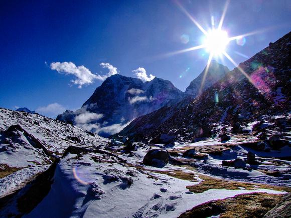 Sunrise over Everest Base Camp