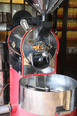 Coffee roasting machine in Nepal