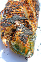 A cooked parrot fish