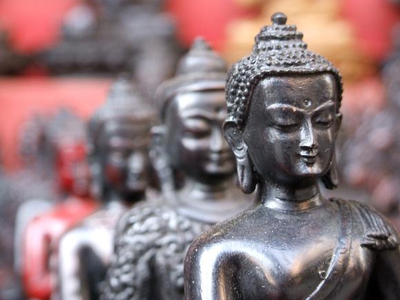 Souvenir statue of Buddha in Kathmandu