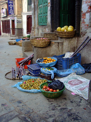 Fruit stall on the streets of Kathmandu