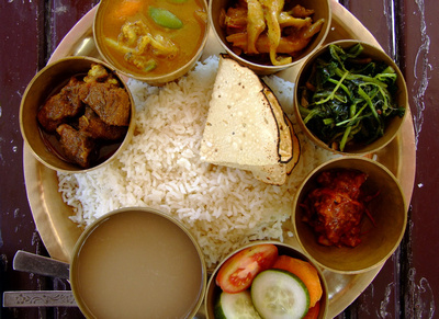 Dal Bhat from Nepal tourist version