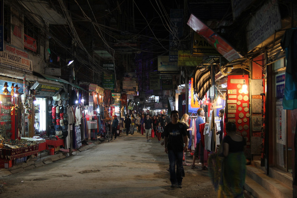 Thamel with no traffic at night