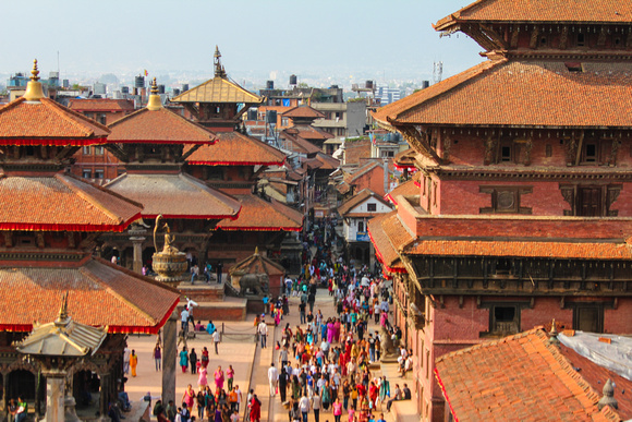 Streets and rooftops of Patan, Nepal