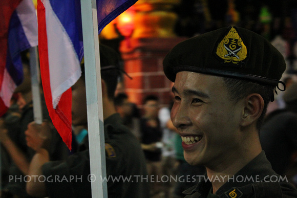 Smiling Thai Army soldier
