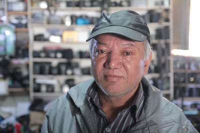 Kiran Shreetha, the best and most honest camera repairman in Kathmandu!
