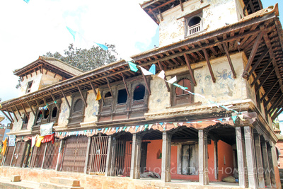 Pilgrims resthouse in Panauti with frescoes