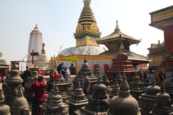 There's plenty more to Swayambhunath than just the main stupa!