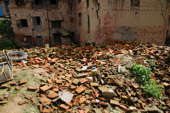 Bungamati in Nepal reduced to nothing more than rubble
