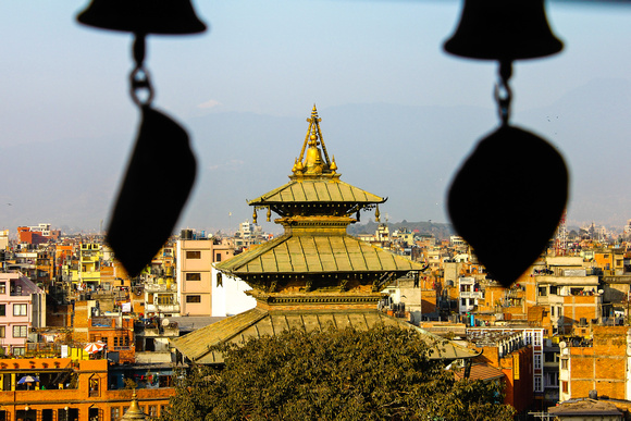 View over Kathmandu Durbar Square from the palace