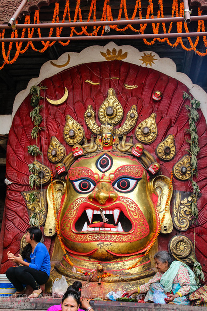 huge statue of Bhairab