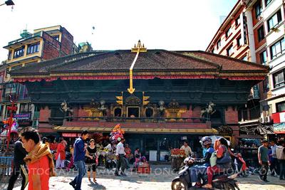 Akash Bhairab Temple in Indra Chowk, Kathmandu