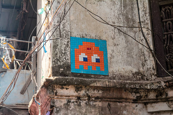 A friendly space invader in Kathmandu