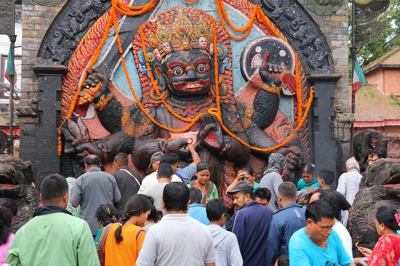 Bhairab statue in Kathmandu Durbar Square