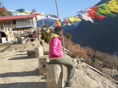 Solo trekker in Nepal