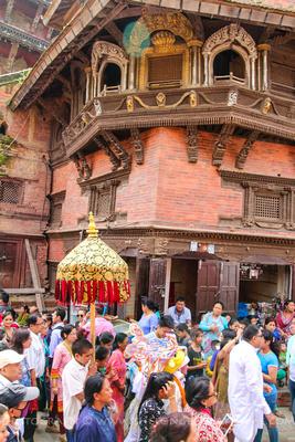 Window of virtues during Gai Jatra