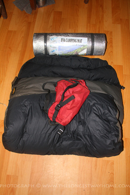 Sleeping bag in Nepal