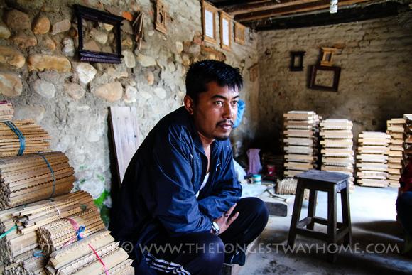 Ratna, the Kumari's father, a wood carver in Bungamati