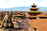 Overlooking Patan Durbar Square