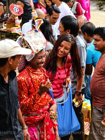 Laugher is an important part of Gai Jatra