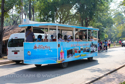 Electric tram in Sukhothai