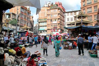 Inside Ason Chowk, Kathmandu