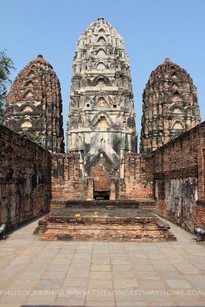 The Prangs at Wat Si Sawai