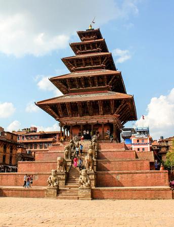 The tall Nyatapola Temple in Bhaktapur