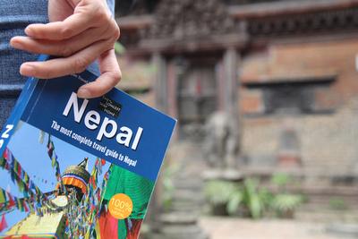Nepal guidebook in Kathmandu