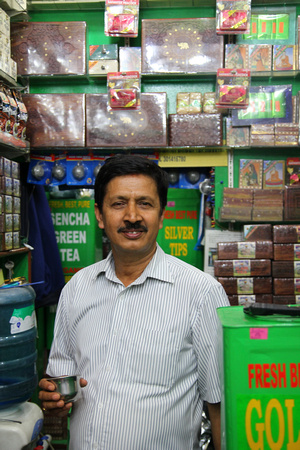 Jagganath (the tea connoisseur of Nepal), inside Himalayan Garden Tea