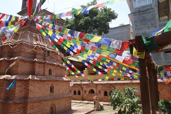 The newly reconstructed Ashok stupa in Thamel, Kathmandu