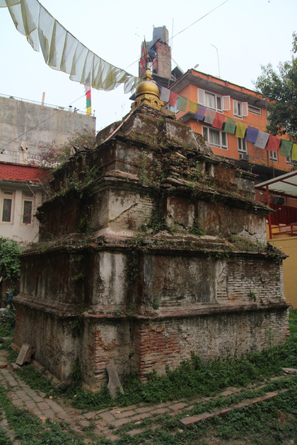 The Ashok Stupa just after the earthquake in 2015