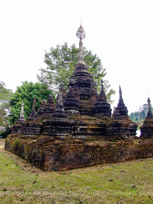 A small Chedi outside Chiang Dao caves