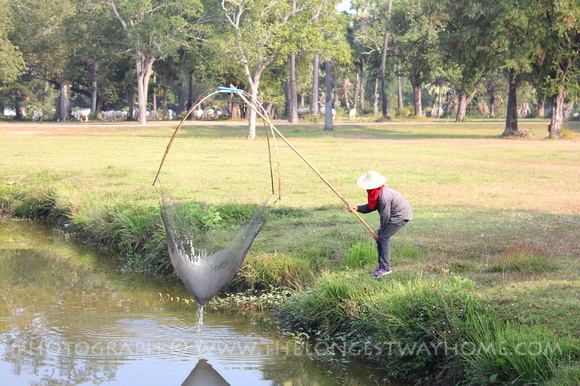 Thai fishing in Sukhothai