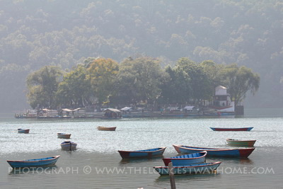 The Taal Barahi island temple in Pokhara Nepal