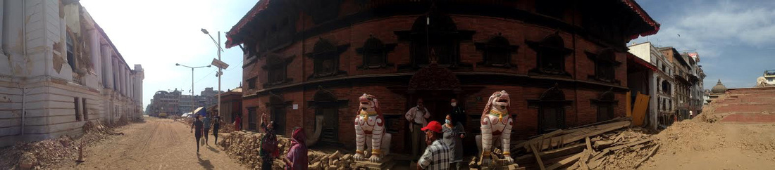Kumari House in Kathmandu Durbar Square after the Earthquake