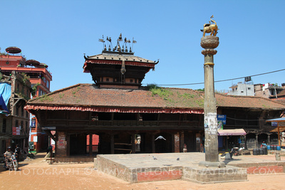 The Bhimsen temple in Dattatreya square