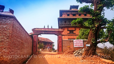 The entrance gate into Nuwakot Durbar Square