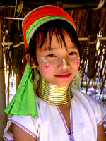 Young Kayan girl dressed up