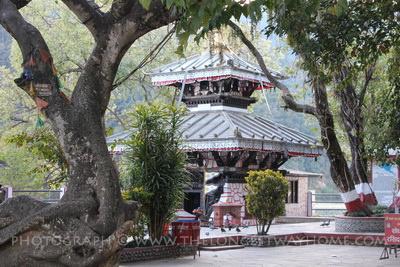 The Taal Barahi temple on lake Phewa in Pokhara