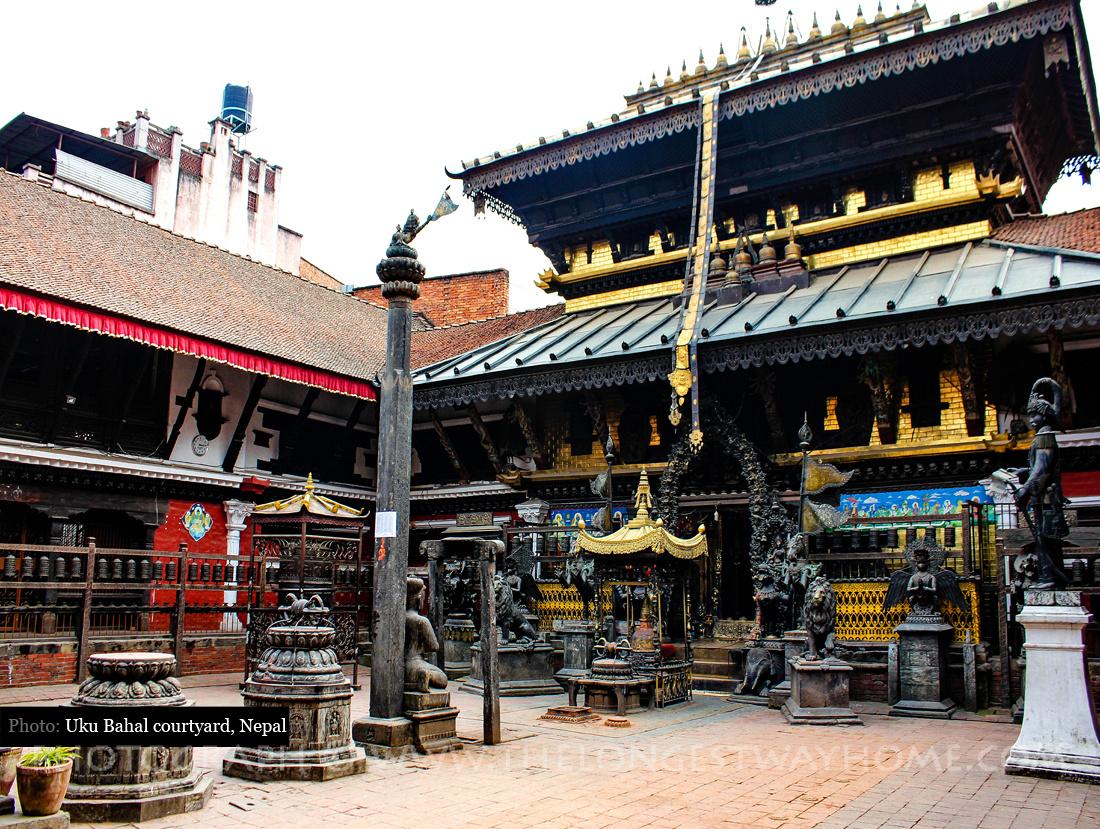 Uku Bahal Courtyard, Patan, Nepal