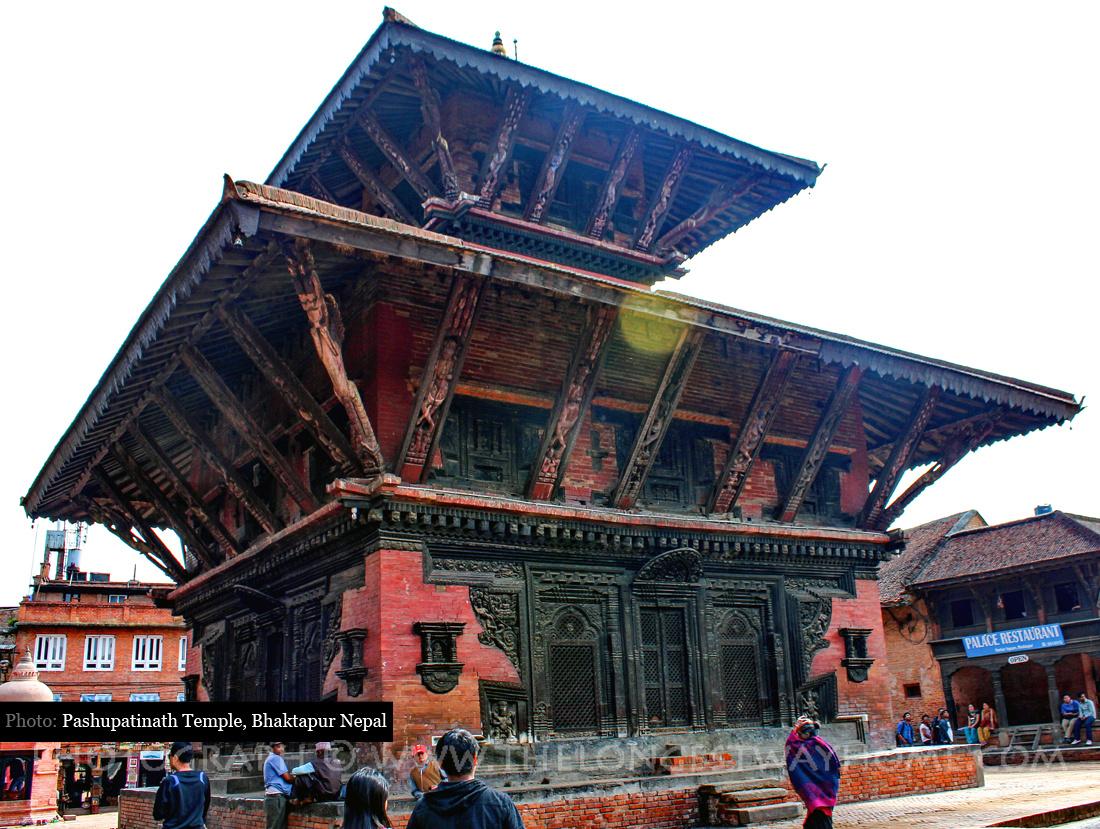 Pashupatinath temple in Bhaktapur Durbar Square