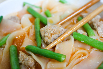 Pork Sukhothai Noodles with green beans