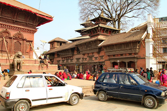 Taxis parked in Kathmandu Durbar Square